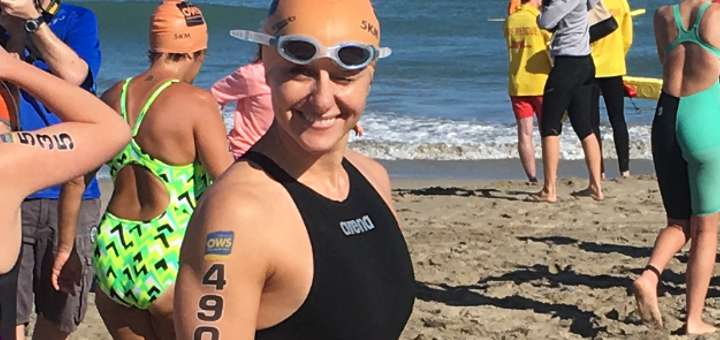 Charity mum tells how island swim for Parkinson's-victim dad almost killed her