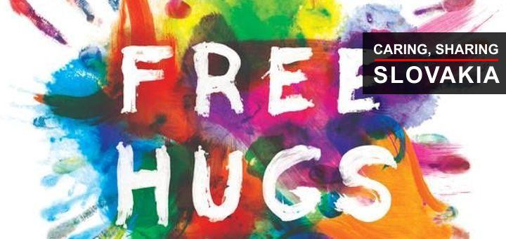 Cuddly Eric shares Slovakia's hugs