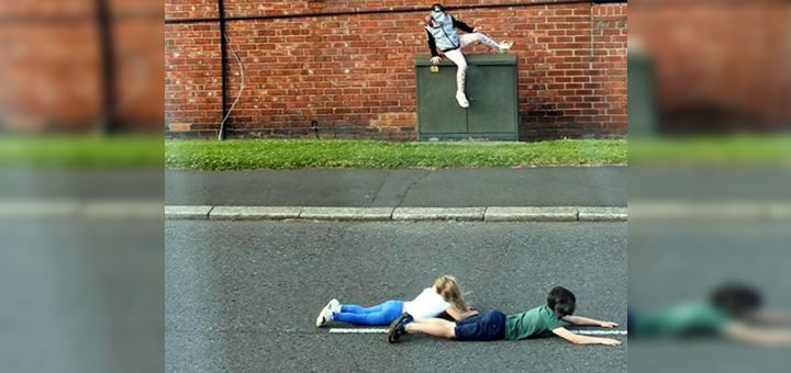 Campaign demand as children play horrifying game of 'Chicken' on UK roads