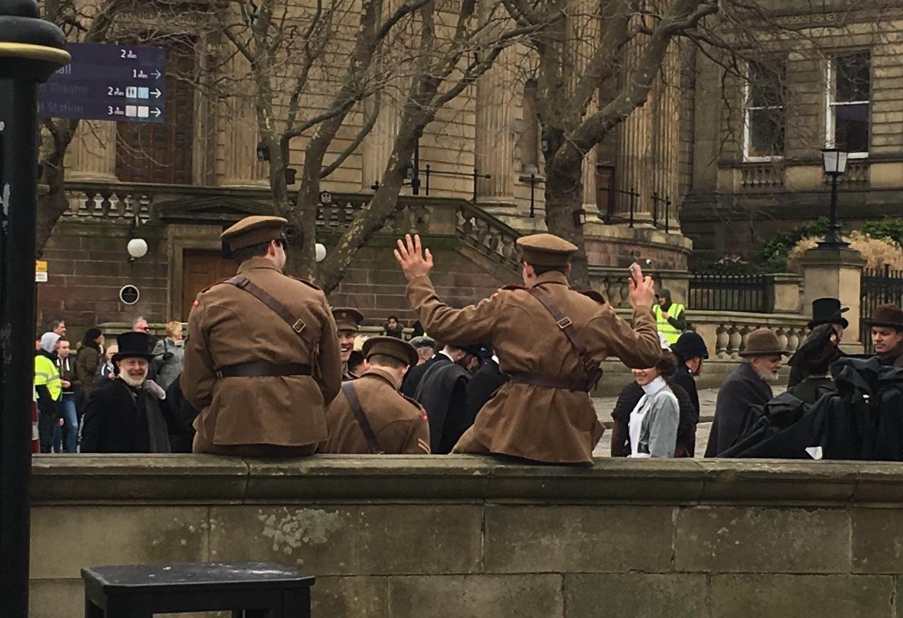 It's wheelie real … a peak at the Blinders shooting in Liverpool