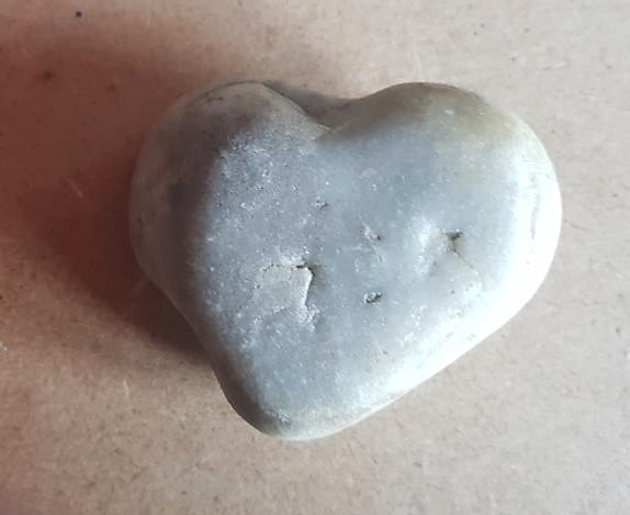 Heart-shaped stone and a lucky number kept Andrew walking for our family lives