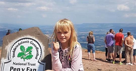 L'il Legend's climb for children with cancer