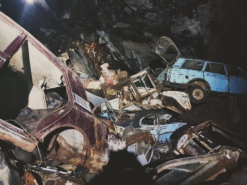 Shame of the rotting cars inside a Welsh mountain