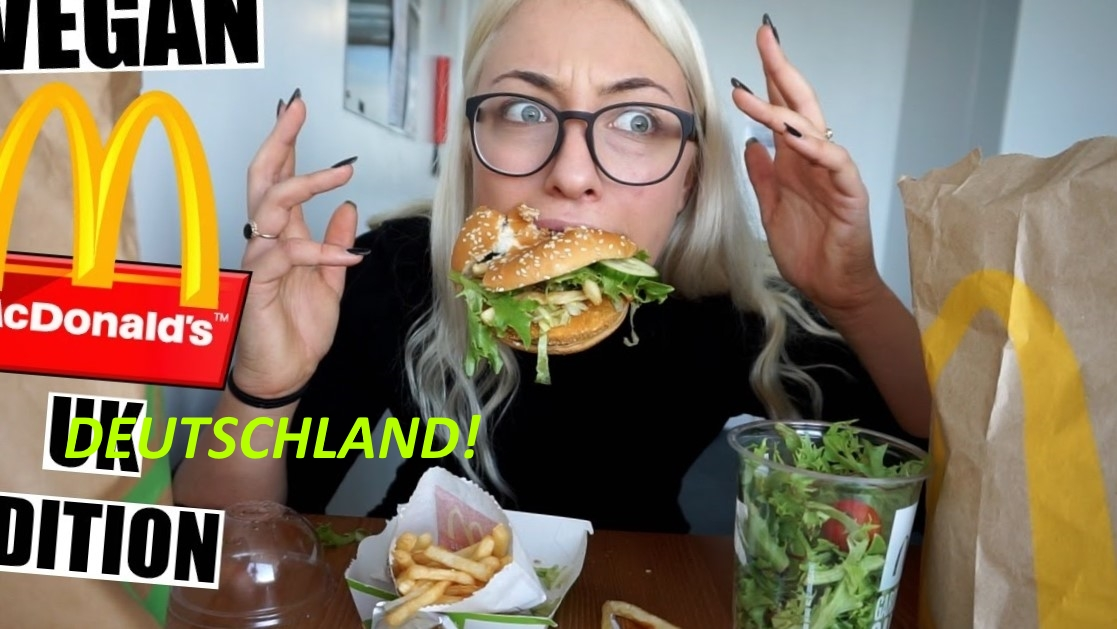 Our Lazy Vegan Maura goes all naturally Nacho as   Baron von Bigmacslinger burgers about in Deutschland